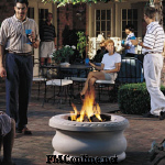 Outdoor natural gas fire pit and propane fire pit give the warmth of a wood campfire without the mess.